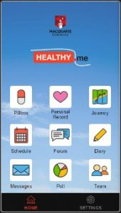 Healthyme screen shot